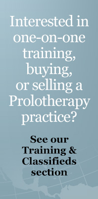 Prolotherapy Training & Classifieds