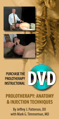 Prolotherapy: Anatomy & Injection Techniques DVD